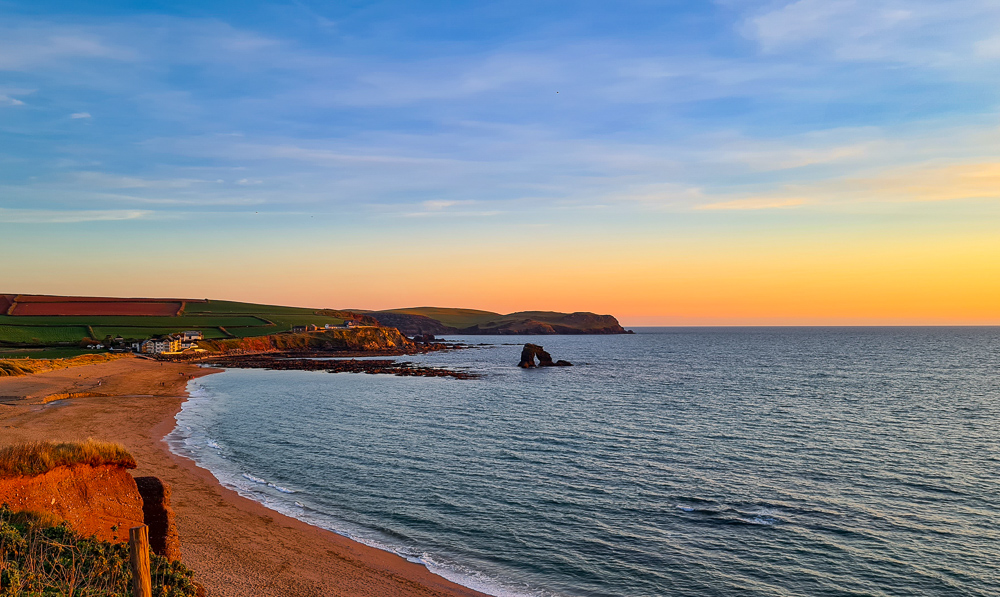 South Milton Sands and Thurlestone Rock